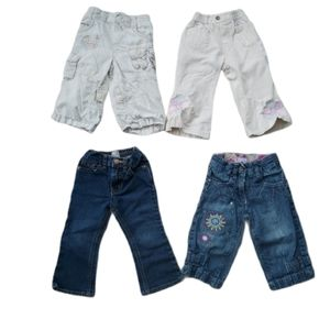 Lot of 4 Toddler Girl's Pants & Jeans, 18-24m
